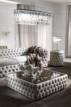 Created by Italian master craftsmen this design is outstanding in its attention to detail. Featuring fabulous button upholstery to the main structure together with a luxurious Emperador dark brown mar Brown Couch Living Room, Living Room Sofa Design, New Living Room, Living Room Modern, Living Room Designs, Center Table Living Room, Sofa Table Design, Modern Sofa Table, Dark Couch
