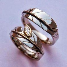 Native Wedding Rings  [Photo courtesy of ZhaawanArt Jewelry]