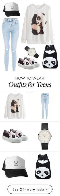 """panda :-)"" by daskadaska on Polyvore featuring New Look and Joshua's"