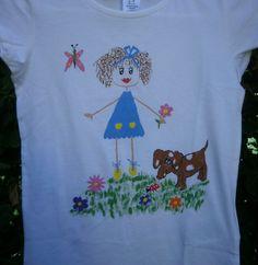 Camiseta muñeca palitos VII. 12€. Si quieres cambiar algún detalle o añadir detalles nuevos, escríbenos a nohay2iguales@nohay2iguales.com y lo vemos.