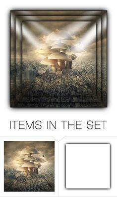 """""""Mushrooms In The City"""" by giovanina-001 ❤ liked on Polyvore featuring art"""
