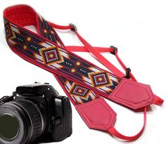Native American Camera strap inspired.  Southwestern by InTePro #nativeamerican #southwestern #etsy #cute #festival #bohemian