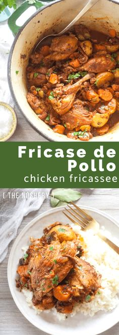 Fricase de Pollo (Chicken Fricassee) - The Noshery Puerto Rican Chicken Stew, Puerto Rican Dishes, Puerto Rican Recipes, Mexican Food Recipes, Dinner Recipes, Ethnic Recipes, Puerto Rican Cuisine, Chicken Fricasse Recipe, Pollo Recipe