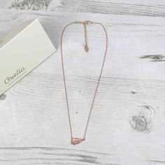 Orelia Rose Gold Colour Feather Necklace Available At Pink Cadillac Boutique www.pinkcadillac.co.uk