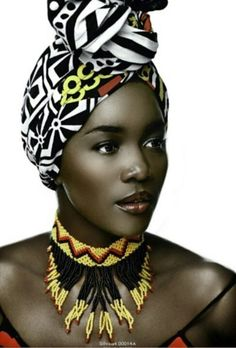 Headwraps + statement necklace