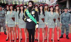 Sacha Baron Cohen and Republic of Wadiya body guards