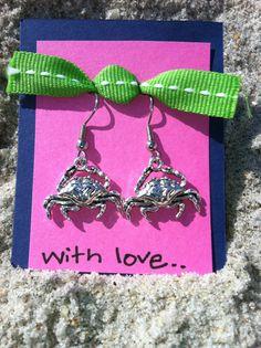 Crab Earrings. $6.00, via Etsy.