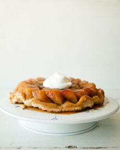 Simple tarte tatin recipe for fall from Claire Thomas