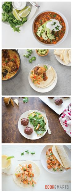 Weekly Meal Plan Menu | Week of 1/30/17 via @cooksmarts - Slow Cooker Sweet Potato & Turkey Chili, Southwestern Chicken & Rice, Meatloaf with Chard & Carrots, and Banh Mi Tofu Tacos. #mealplan #mealplanning #homecooking #weeknightdinner