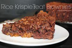 ~Rice Krispie Treat Brownies! | Oh Bite It | Bloglovin'