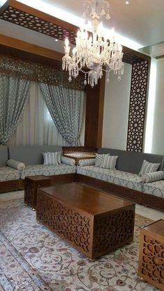 Majlis Dewan Home Decor Moroccan Interiors Salon Marocain Living Room Partition, Ceiling Design Living Room, Living Room Sofa, Living Room Designs, Living Room Decor, Living Rooms, Home Decor Furniture, Furniture Design, Moroccan Interiors