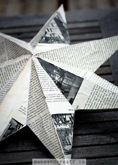 Decouperad adventsstjärna - Pysseltips - Make & Create