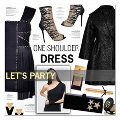 """""""one shoulder dress"""" by nanawidia ❤ liked on Polyvore featuring Giambattista Valli, Carvela, ASOS, Versace, Edie Parker, Yves Saint Laurent, Victoria's Secret and Gucci"""