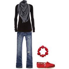 Black & Red, created by crainey90 on Polyvore