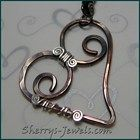 Copper Heart w Sterling Acc...