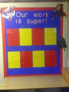 Miss Lynch's Class: My Adorable Display Boards! superhero Display / Memo Board