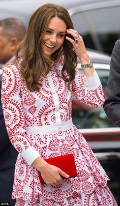 The Duchess of Cambridge wore her hair in loose curls for her first full day of royal engagements in Canada