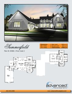 Summerfield | 1.5 Story Modern Cottage by Advanced House Plans
