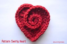 Last year I made felted heart pins of pretty purple yarns. Since then I've had requests for the pattern. I'm a bit slow sometimes, but now it's finally done! The heart pattern is based on my spiral…