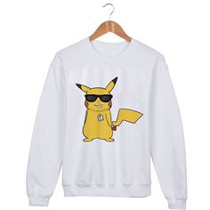 Pikachu Pokemon Sweater sweatshirt unisex adults size by mengeluhh