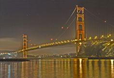 Everyone's favorite bridge! Golden Gate Bridge at night...