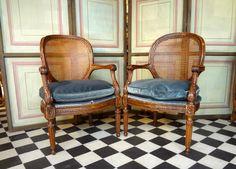 Paire De Larges Fauteuils Médaillon Epoque XVIIIème Siècle, Laurence Helmer et Maison James, Proantic