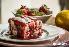 Duplán epres tiramisu Meatloaf, Lasagna, French Toast, Treats, Baking, Breakfast, Ethnic Recipes, Food, Cakes