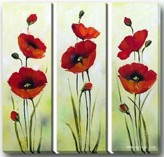 1823 best paint poppies images on pinterest in 2018 flower designs discover thousands of images about original acrylic painting red poppies flowers by artonlinegallery mightylinksfo