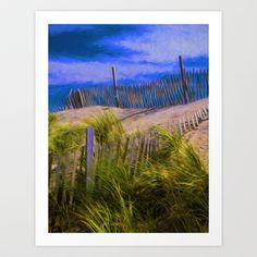 Beach Scene Art Print by Lloyd Goldstein. http://society6.com/lloydgoldstein/beach-scene-vnd#1=45