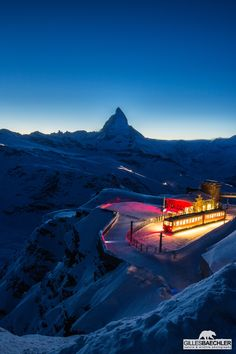 View of the Matterhorn and Gornergrat station.Terminus by Gilles Baechler on 500px - Photo by Gilles Baechler