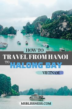 If you're wondering how to get from Hanoi to Halong Bay, there are actually quite a few different options. We used a bus service that was organized by a tour company for which I will provide you with more information right here. You cannot go to Vietnam and not visit Halong Bay - it's a bucket list destination #halongbay #vietnam #hanoitohalongbay #southeastasia