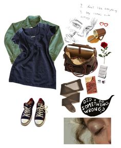 """""""can't you see you're breaking my heart?"""" by uxly ❤ liked on Polyvore featuring By Zoe, Converse, BP. and Hot Topic"""