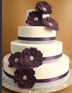 Pretty Cake Option-Maybe different color flowers?