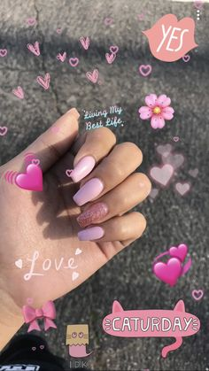 130 cute spring nail art designs to refresh your next mania page 36 -. - 130 cute spring nail art designs to refresh your next mania page 36 The Effective Pictures We Offer - Pink Acrylic Nails, Acrylic Nail Designs, Pink Nails, Nail Art Designs, My Nails, Pink Acrylics, Cute Spring Nails, Spring Nail Art, Cute Nails