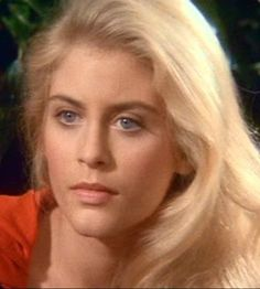 Helen Slater Supergirl.  I loved her hair, ESPECIALLY in this scene, SO cute!!!
