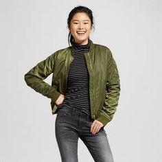 Women's Aviator Bomber Jacket - Mossimo Supply Co.™ : Target