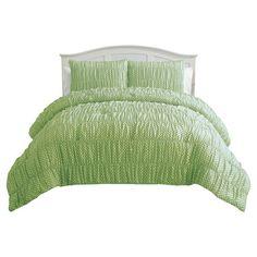 Found it at Wayfair - Anastasia Ruched Comforter Set in Green