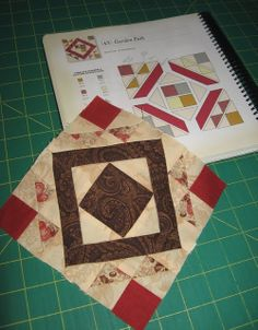 laugh yourself into Stitches*: Block #43 Garden Path paper piecing tutorial