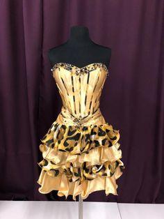a8dbecdfc9 Tony Bowls Size 6 Yellow Cheetah Print Rhinestone Bead Formal Dress