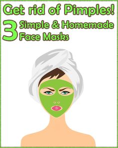 Natural face masks used to get rid of pimples are very easy to make and surprisingly, the results you get are great. Here's a couple you should definitely try. #skincare #face_mask #natural_remedies #homemade #pimples