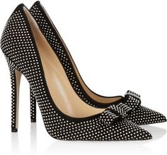 These are cute and fun and would make my pencil skirt look a bit more like a giggle! Jimmy Choo Maya studded suede pumps