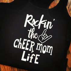 Rockin' the Cheer Mom Life Tank by oolalashoppe on Etsy