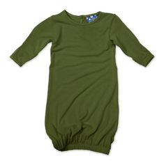 Kicky Pants Layette Gown, Moss, -3 Months « Clothing Impulse