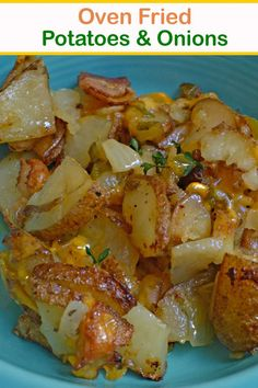 Onion Recipes, Vegetable Recipes, Vegetarian Recipes, Cooking Recipes, Oven Potato Recipes, Potato Sides, Potato Side Dishes, Vegetable Side Dishes, Oven Fried Potatoes