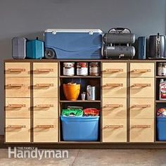 #DIY Garage Storage: Super Sturdy Drawers - Get the plans: http://www.familyhandyman.com/garage/storage/diy-garage-storage-super-sturdy-drawers/view-all