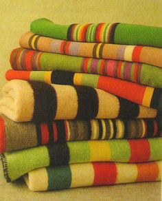 colorful camp blankets