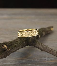 55bbdf835c Infinity wedding band, Men's infinity ring, Infinity ring for groom, Mens  wedding band, Eternity gold band, Unique gift for men, Mens ring