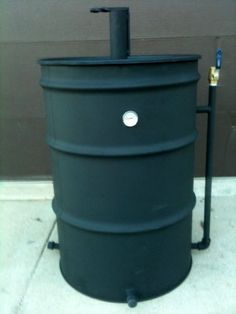build a gravity feed smoker like this outdoor kitchen build pinterest. Black Bedroom Furniture Sets. Home Design Ideas