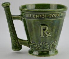Old Mortar And Pestle | McCoy Mortar & Pestle Mug - Pharmacy Schering Coricidin Galen ...