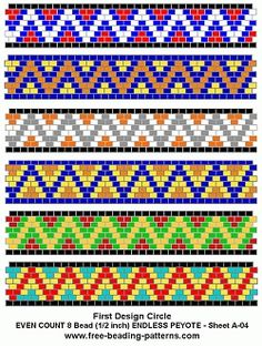 Free Peyote Stitch patterns and software for making beading patterns for jewelry making! Peyote Beading Patterns, Peyote Stitch Patterns, Beaded Bracelet Patterns, Bead Loom Patterns, Loom Beading, Jewelry Patterns, Mosaic Patterns, Bead Loom Bracelets, Seed Beads